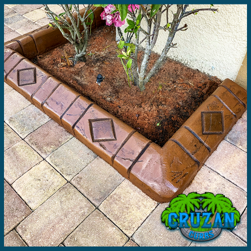 Cruzan Curbs - Custom Stamped Edging - Single Diamond