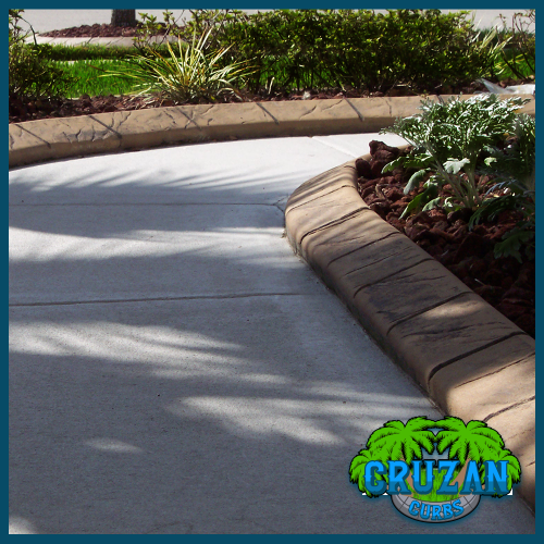 Cruzan Curbs - Custom Stamped Edging - Slate Tile